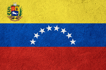 venezuelan: flag of Venezuela or Venezuelan banner on rough pattern background