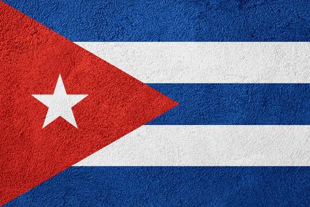 bandera cuba: bandera de Cuba o la bandera cubana en el fondo patrón en bruto Foto de archivo