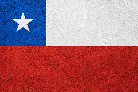 bandera chilena: flag of Chile or Chilean banner on rough pattern background
