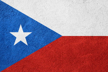 flag of Puerto Rico or Puerto Rican banner on rough pattern background