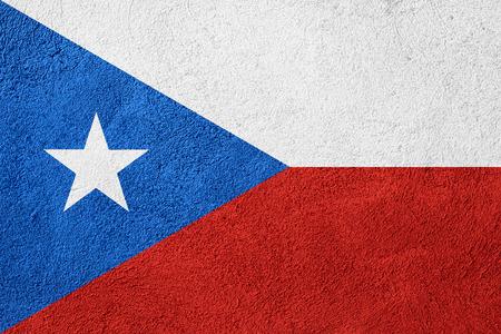 bandera de puerto rico: la bandera de la bandera de Puerto Rico o de Puerto Rico en el fondo patrón en bruto