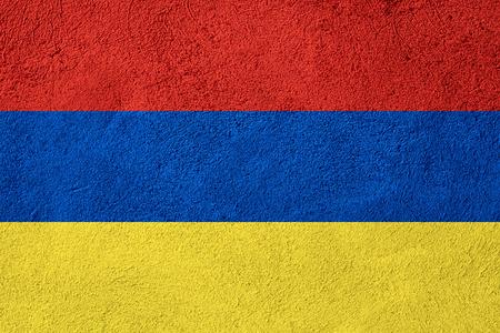 armenian: flag of Armenia or Armenian banner on rough pattern background
