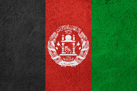 afghan flag: flag of Afghanistan or Afghan banner on rough pattern background