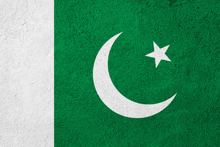 pakistani pakistan: flag of Pakistan or Pakistani banner on rough pattern background