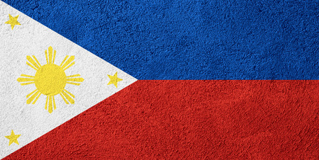 filipino people: flag of Philippines or banner on rough pattern background Stock Photo