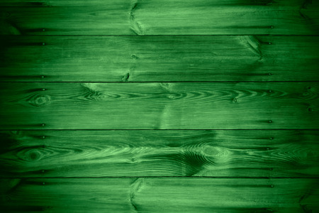 wooden green texture or old planks background Banco de Imagens