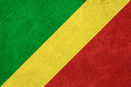 Congo: flag of Congo or Congolese banner on rough pattern background