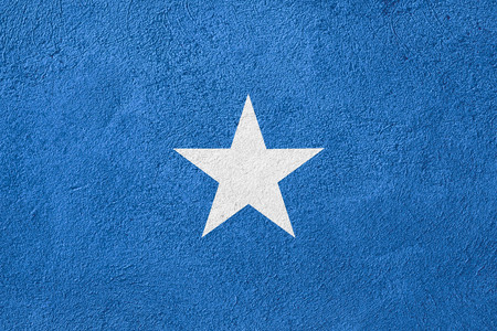 somali: flag of Somalia or Somali banner on rough pattern background
