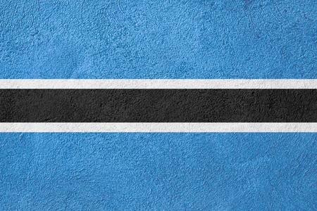 botswana: flag of Botswana or banner on rough pattern background