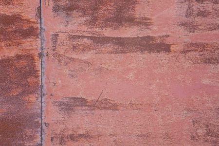 rust red: red rust plate background or rough, scratchy texture Stock Photo