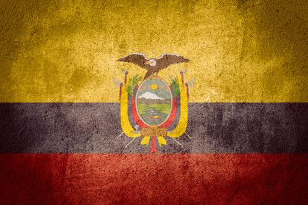 ecuadorian: flag of Ecuador or Ecuadorian banner on rough pattern background