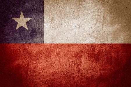 bandera chilena: bandera de Chile o la bandera chilena en el fondo patrón en bruto Foto de archivo