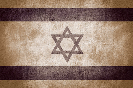 israeli: flag of Israel or Israeli banner on stone background