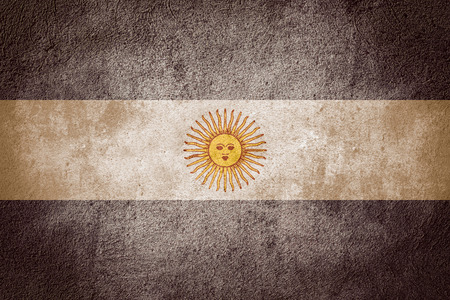 argentinian flag: flag of Argentina or Argentinian banner on rough pattern background