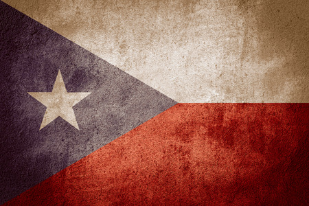 rican: flag of Puerto Rico or Puerto Rican banner on rough pattern background