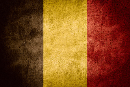 belgian: flag of Belgium or Belgian banner on stone background Stock Photo