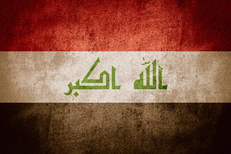 iraqi: flag of Iraq or Iraqi banner on rough pattern background