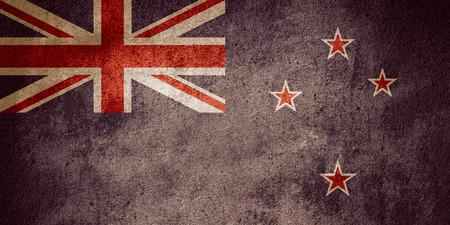 bandera de nueva zelanda: flag of New Zealand or banner on rough pattern background
