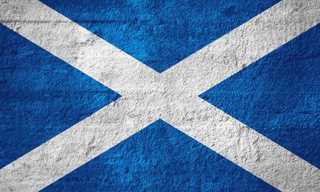 scotch: flag of Scotland or Scottish banner on rough texture, Scotch