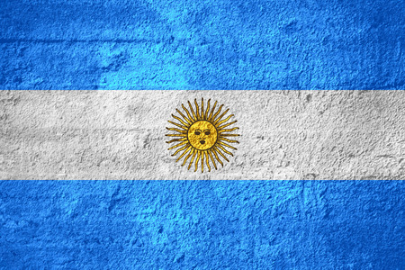 argentinian: flag of Argentina or Argentinian banner on rough texture