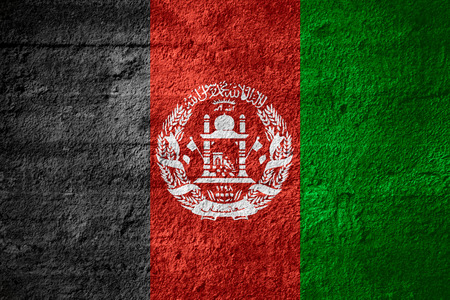 afghan: flag of Afghanistan Afghan or banner on rough texture