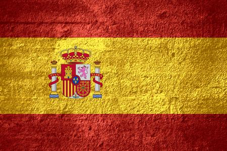 spainish: flag of Spain or Spainish banner on rough texture