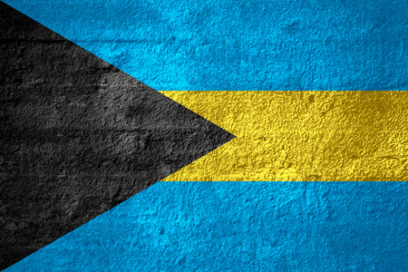 bahamian: flag of Bahamas or Bahamian banner on rough texture