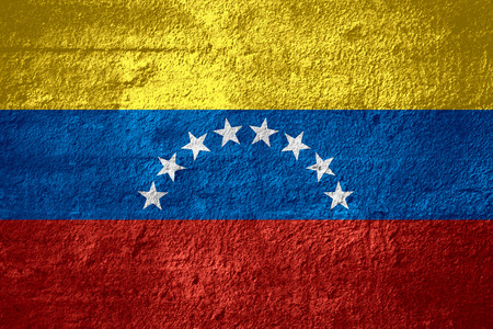 venezuelan: flag of Venezuela or Venezuelan banner on rough texture