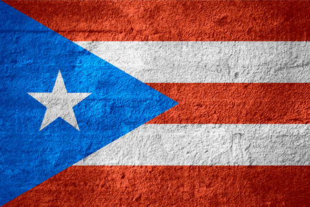 rican: flag of Puerto Rico or Puerto Rican banner on rough texture