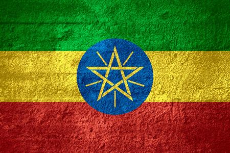 ethiopian: flag of Ethiopia or Ethiopian banner on rough texture