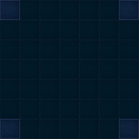 navy blue: navy blue background or leather square pieces with white seam Stock Photo