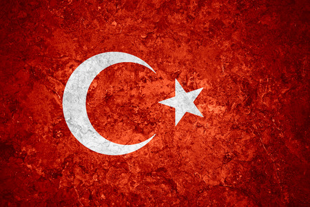 flag of Turkey or Turkish banner on vintage background