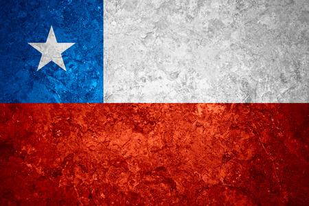 bandera chilena: bandera de Chile o la bandera chilena en el fondo de la vendimia