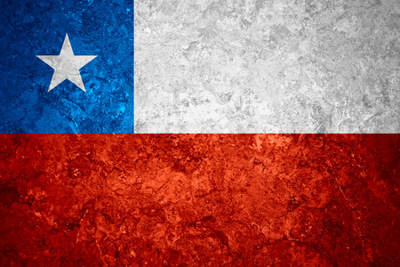 chilean flag: flag of Chile or Chilean banner on vintage background