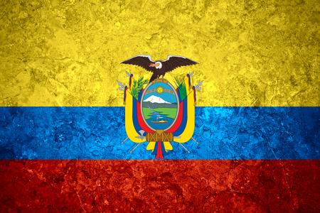 ecuadorian: flag of Ecuador or Ecuadorian banner on vintage background