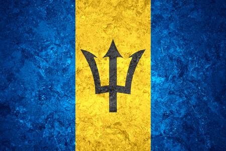 barbadian: flag of Barbados or Barbadian banner on vintage background