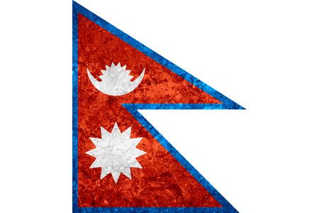 nepali: flag of Nepal or Nepali banner on vintage background