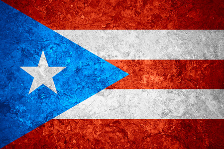 puerto rican: flag of Puerto Rico or Puerto Rican banner on vintage background Stock Photo