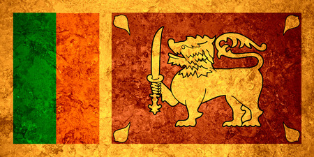 sri lankan flag: flag of Sri Lanka or Sri Lankan banner on vintage background
