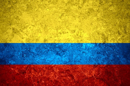 colombian: flag of Colombia or Colombian banner on vintage background