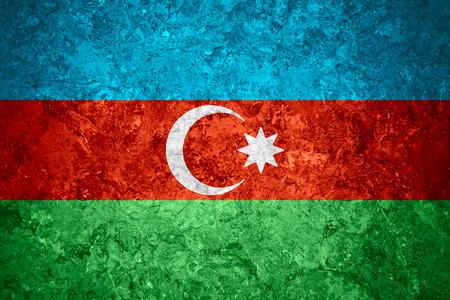 azerbaijani: flag of Azerbaijan or Azerbaijani banner on vintage background Stock Photo