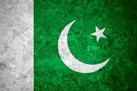 pakistani pakistan: flag of Pakistan or Pakistani banner on vintage background Stock Photo