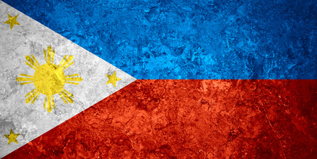 filipino people: flag of Philippines or Filipino banner on vintage background