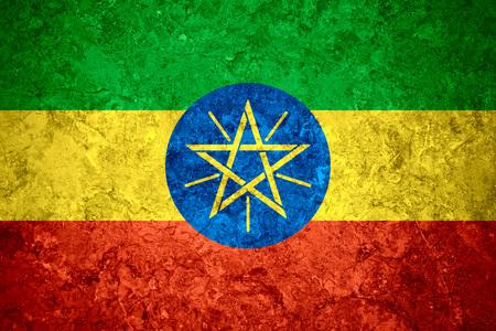 ethiopian: flag of Ethiopia or Ethiopian banner on vintage background