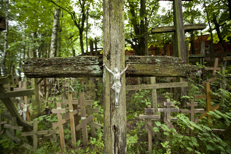 rood: the Holy Mountain Grabarka in Poland, place of pilgrimages.