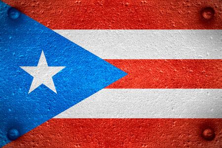 bandera de puerto rico: la bandera de la bandera de Puerto Rico o de Puerto Rico en el fondo de acero