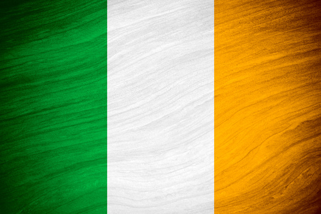 irish culture: flag of Ireland or Irish banner on abstract background Stock Photo