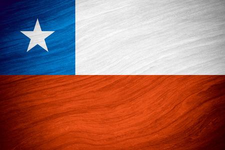 bandera chilena: bandera de Chile o la bandera chilena en el fondo abstracto Foto de archivo