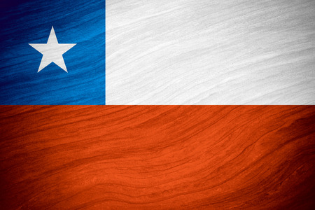 chilean flag: flag of Chile or Chilean banner on abstract background Foto de archivo
