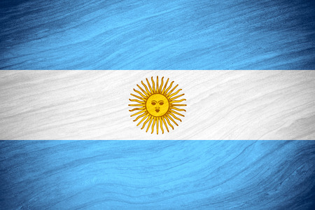 argentinian flag: flag of Argentina or Argentinian banner on abstract background